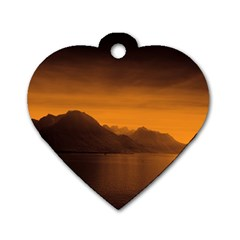 Waterscape, Switzerland Twin Sided Dog Tag (heart) by artposters