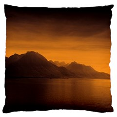 Waterscape, Switzerland Large Cushion Case (one Side) by artposters