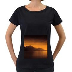 Waterscape, Switzerland Black Oversized Womens'' T Shirt by artposters