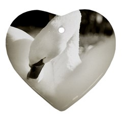 Swan Heart Ornament (two Sides) by artposters