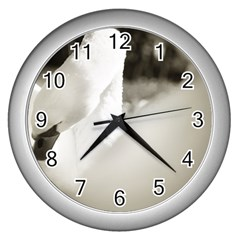 Swan Silver Wall Clock by artposters