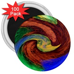 Culture Mix 100 Pack Large Magnet (round) by dawnsebaughinc
