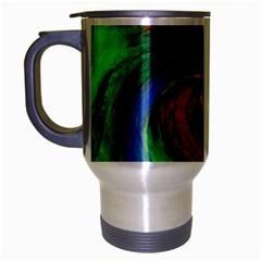 Culture Mix Brushed Chrome Travel Mug by dawnsebaughinc