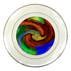 Culture Mix Porcelain Display Plate by dawnsebaughinc