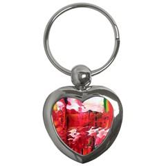 Decisions Key Chain (heart) by dawnsebaughinc