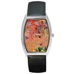 Diversity Black Leather Watch (tonneau) by dawnsebaughinc