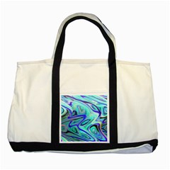 Easy Listening Two Toned Tote Bag by dawnsebaughinc