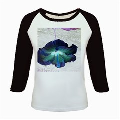 Exotic Hybiscus   Long Sleeve Raglan Womens'' T-shirt