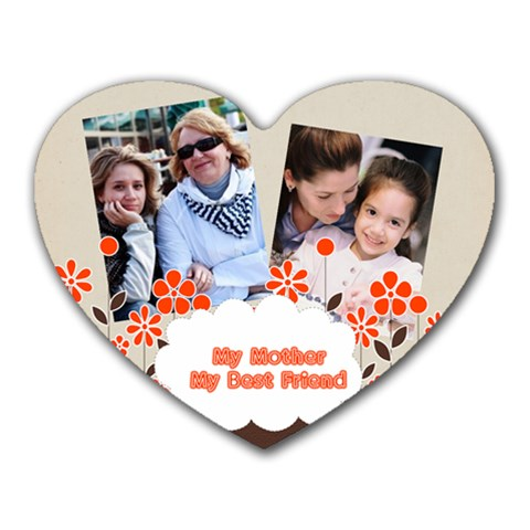 Mothers Day By Mom   Heart Mousepad   Xkw5ccwrkjoz   Www Artscow Com Front