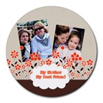 mothers day - Collage Round Mousepad