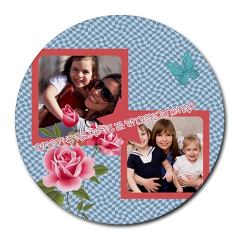 Mothers Day By Mom   Round Mousepad   Rhtqfwqncygb   Www Artscow Com Front