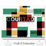 Christmas Calendar 2012 - Wall Calendar 11  x 8.5  (12-Months)
