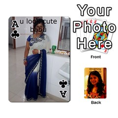Ace Sonal Gift By Sonal Kothari   Playing Cards 54 Designs   Nqz6l77gl895   Www Artscow Com Front - ClubA