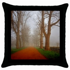 Foggy Morning, Oxford Black Throw Pillow Case by artposters