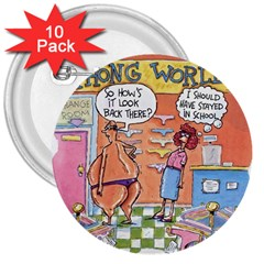 Thong World 10 Pack Large Button (round) by mikestoons