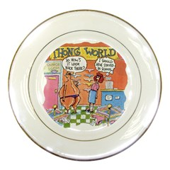 Thong World Porcelain Display Plate by mikestoons