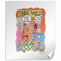 Thong World 8  X 10  Unframed Canvas Print by mikestoons