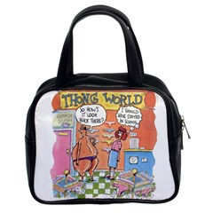 Thong World Twin Sided Satchel Handbag by mikestoons