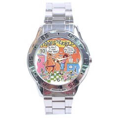 Thong World Stainless Steel Analogue Watch (round) by mikestoons