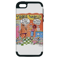 Thong World Apple Iphone 5 Hardshell Case (pc+silicone) by mikestoons
