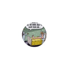 The Good News Is     Mini Button (round) by mikestoons