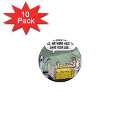 The Good News Is     10 Pack Mini Magnet (round) by mikestoons