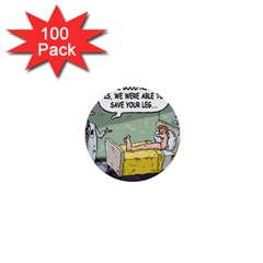 The Good News Is     100 Pack Mini Button (round) by mikestoons