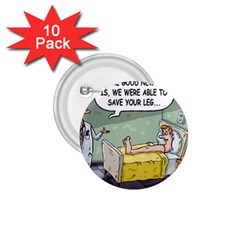 The Good News Is     10 Pack Small Button (round) by mikestoons