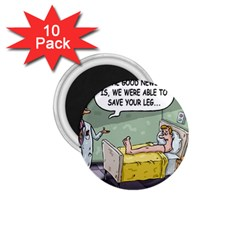 The Good News Is     10 Pack Small Magnet (round) by mikestoons