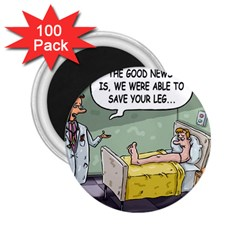 The Good News Is     100 Pack Regular Magnet (round) by mikestoons