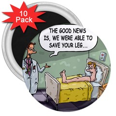 The Good News Is     10 Pack Large Magnet (round) by mikestoons