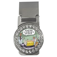 The Good News Is     Money Clip With Gemstones (round) by mikestoons