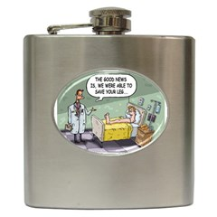 The Good News Is     Hip Flask by mikestoons