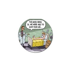 The Good News Is     Golf Ball Marker by mikestoons