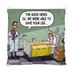 The Good News Is     Twin Sided Cushion Case by mikestoons