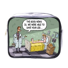 The Good News Is     Single Sided Cosmetic Case by mikestoons