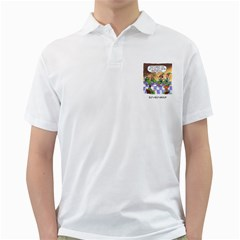Elf Help Group White Mens  Polo Shirt by mikestoons