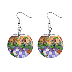 Elf Help Group Mini Button Earrings by mikestoons
