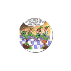 Elf Help Group 4 Pack Golf Ball Marker by mikestoons