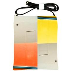 Geometry Cross Shoulder Sling Bag by artposters