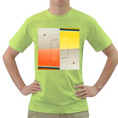 Geometry Green Mens  T Shirt by artposters