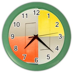 Geometry Colored Wall Clock by artposters