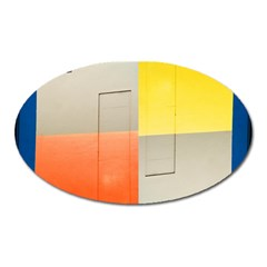 Geometry Large Sticker Magnet (oval) by artposters
