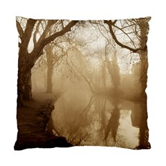 Misty Morning Single Sided Cushion Case by artposters