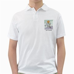 Multitasking Clown White Mens  Polo Shirt by mikestoons
