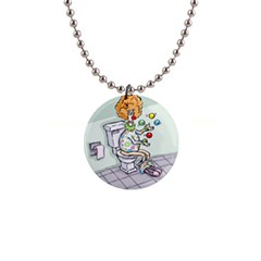Multitasking Clown Mini Button Necklace by mikestoons