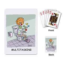 Multitasking Clown Standard Playing Cards by mikestoons