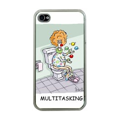 Multitasking Clown Apple Iphone 4 Case (clear) by mikestoons