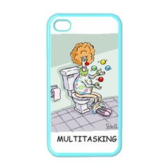 Multitasking Clown Apple Iphone 4 Case (color) by mikestoons