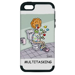 Multitasking Clown Apple Iphone 5 Hardshell Case (pc+silicone) by mikestoons